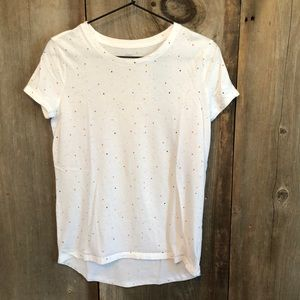 Old Navy White Dot High Low Short Sleeve Tee 16